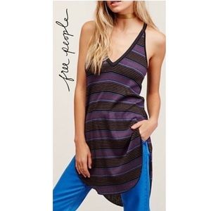 Free People We The People Loui Striped Tunic